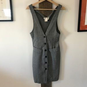 Vintage Dresses - Amazing Vintage Houndstooth Wool Blend Dress